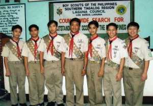 Eagle Scout Christian Olan R. Dorado 3rd from the right