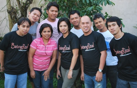 Members of the BatangRizal Organization (teachers from Rizal Central, Pook, Antipolo Elementary School, from High School and volunteers)