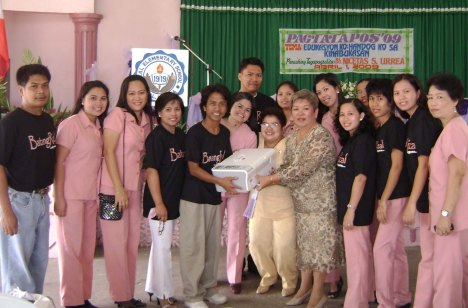 Members of BatangRizal Organization during the turn over of a Hewlett Packard copier, printer & scanner to Rizal Elementary School, recieved by Dr. Rhea B. Gutierrez RES Principal, Mrs. Estelita Ortega and other faculty members