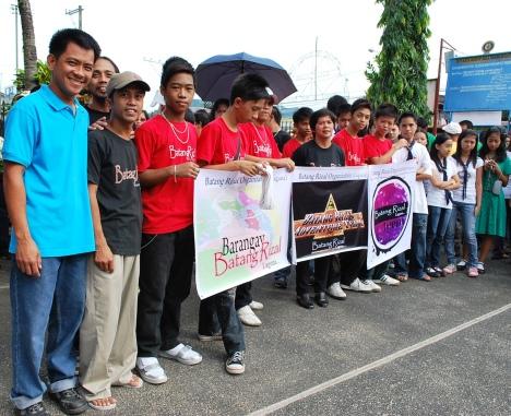 BROrg. members: BBR BarangayBatangRizal, BRAT BatangRizalAdventureTeam, BRT BatangRizalTeens with their respective Logo's in tarpaulin