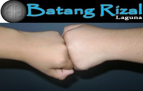 BatangRizal Handshake conceptualized by Gerry Rubiato of Brgy. Pauli II Rizal, Laguna